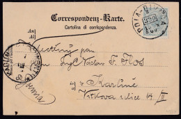 POLA - DIVAČA, 330, Railway TPO Cancellation, On Picture Postcard, Mailed In 1900 - Briefe U. Dokumente