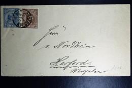 Nederland  Postwaardestuk Dubbelfrankering Met NVPH 36 Amsterdam Naar Herford Duits. 1895 - Brieven En Documenten