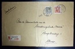 Nederland Aangetekende Enveloppe Oestgeest Naar Utrecht NVPH 178 + 189 Dubbelfrankering - Periode 1891-1948 (Wilhelmina)