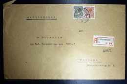 Nederland Aangetekende Enveloppe Den Haag Naar Utrecht NVPH 178 + 189 Dubbelfrankering - Brieven En Documenten