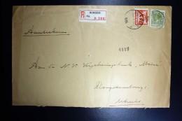 Nederland Aangetekende Enveloppe Nijmegen Naar Utrecht NVPH 173 + 192 Mengfrankering - Brieven En Documenten