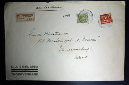 Nederland Aangetekende Enveloppe Den Haag Naar Utrecht NVPH 173 + 192 Mengfrankering - Periode 1891-1948 (Wilhelmina)