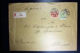 Nederland Aangetekende Enveloppe EDE Naar Utrecht NVPH 173 + 192 Mengfrankering - Periode 1891-1948 (Wilhelmina)