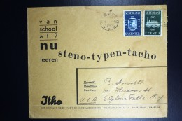 Nederland Bedrijfs Cover 1939 Haarlem Naar New York, NVPH  325 + 326  Hor. Vouw Aan Onderkant - Periode 1891-1948 (Wilhelmina)