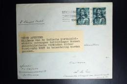Nederland Brief 1945terug Afzender, Blijkens Van De Indische Postadministratie Ontvangen Inlichtingen.. Niet In Behandel - Periode 1891-1948 (Wilhelmina)