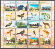 Kyrgyzstan 2003 Kirgisistan Mi 343-352klb Resorts At Issyk Kul: Birds, Animals / Urlaubsorte Am Yssykköl: Vögel, Tiere - Briefmarken