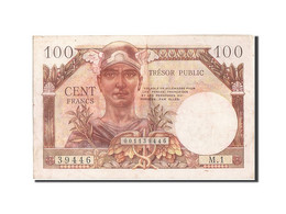 France, 100 Francs, 1955-1963 Treasury, 1955, 1955, KM:M11a, TTB, Fayette:VF34.1 - Treasury