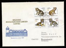 A4218) DDR Brief Mit Mi.2322-2325 Raubkatzen Von Greiz 26.5.78 In Die Schweiz - Raubkatzen