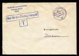 A4219) DDR ZKD Brief Vom Gefängnis Untermaßfeld 20.8.86 An Kreisgericht Ilmenau - [6] République Démocratique