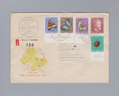 Schweiz Pro Juventute 1952-12-01 Bern Brief Nach Pforzheim - Lettres & Documents