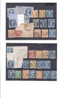Paris Oblitération Lettres Romaines - Marcophily (detached Stamps)