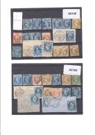 Paris Oblitération Lettres Bâton - Marcophily (detached Stamps)