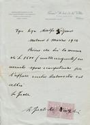 Sur Lettre 2x 5 Cts Marco Da Bollo - 1900-44 Vittorio Emanuele III