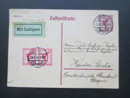 Luftpost GA 1926 Mit Zusatzfrankatur Gesendet Nach Constantiople Stamboul!! Seltene Destination! Leipzig Luftpost - Briefe U. Dokumente