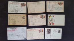 CP Carte Postale LOT 9 Cartes Franchise Militaire (K19) - Postcards