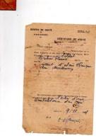 Service De Santé,place D'Annecy.certificat De Visite.dubois Fleuris,atteint D'ulcère Chronique .9-11-1944 - Documents Historiques