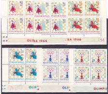 # 181 CHESS, OLIMPICS, HAVANA, 1966, Mi 2478/83, MNH**, BLOCKS OF FOUR, ROMANIA - 1948-.... Republics