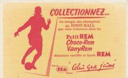 Buvard REM  , Les Choco Rem Et Petit Choco, Vany Rem, Collectionnez Les Images De Champions De Foot-Ball - Buvards, Protège-cahiers Illustrés
