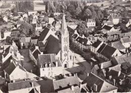CPSM   En Avion Au Dessus De....LIGUEIL 37  L´église - Autres Communes