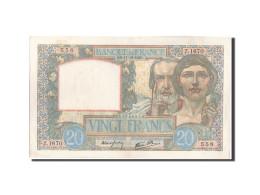 France, 20 Francs, 20 F 1939-1942 ''Science Et Travail'', 1940, 1940-10-17, K... - 1871-1952 Anciens Francs Circulés Au XXème