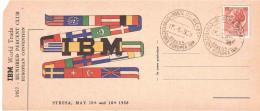 15.5.1958 CONVENZIONE EUROPEA IBM - 1946-60: Marcophilia