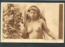 CPA - Femme Seins Nus - Danseuse Arabe - Lehnert & Landrock, Tunis - Afrique Du Sud, Est, Ouest