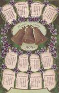CPA CALENDRIER - 1904  -  BONNE ANNEE - AVEC CLOCHES - Nouvel An