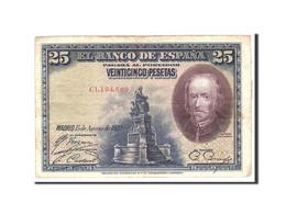 Espagne, 25 Pesetas, 1928, KM:74b, 1928-08-15, TTB - 1-2-5-25 Pesetas