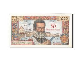 France, 50 Nouveaux Francs On 5000 Francs, 5 000 F 1957-1958 ''Henri IV'', 19... - 1871-1952 Anciens Francs Circulés Au XXème