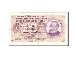 Suisse, 10 Franken, 1956, 1956-11-29, KM:45c, TB+ - 1955-1959 Sovraccarichi In Nuovi Franchi