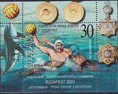 JUGOSLAVIA 2001 PALLANUOTO / Water Polo SHEET MNH