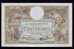FRANCE: 100F Luc Olivier Merson N°25-27. Date04/08/1938. Cote 190 Euro. - 100 F 1908-1939 ''Luc Olivier Merson''