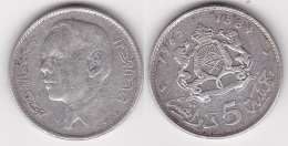 MAROC : 5 DIRHAMS 1965 En Argent  (voir Scan) - Colonie