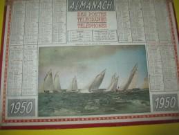Almanach Des Postes Télégraphes Téléphones /Régates Dans Le Bassin D'Arcachon/Seine & Oise/Oller/Puteaux/1950   CAL330 - Grand Format : 1941-60