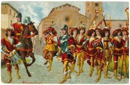 CPA Italien/Italie: 10. Siena - Comparsa Della Contrada Val Di Montone, 2 Scans - Perugia