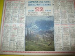 Almanach Des Postes Télégraphes Téléphones /Vallée De La Durance Prés D'Embrun/Seine & Oise/Oller/1951   CAL331 - Grand Format : 1941-60
