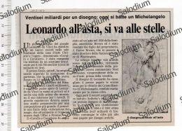 Article On Auction Of LEONARDO DA VINCI In London - Immagine Ritagliata Da Pubblicazione CROPPED IMAGE - Après 1965