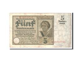 Allemagne, 5 Rentenmark, 1926, KM:169, 1926-01-02, TB - [ 3] 1918-1933 : Repubblica  Di Weimar