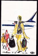 Menu Air France Heathrow Florent Margaritis - Menus