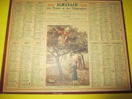 Almanach Des Postes Télégraphes /La Cueillette Des Pommes ( Normandie)/Dépt ?/Imprimeur ? /1930     CAL336 - Calendriers
