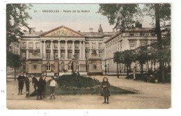 CPA Belgique BRUXELLES Palais De La Nation Enfants Palais Colorisée 1908 - Monumenti, Edifici