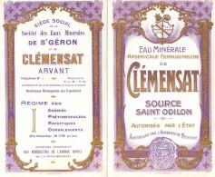 Dépliant Publicitaire Eau Minérale Arsenicale Ferrugineuse De Clémensat Source Saint Odilon .... - Publicités