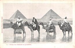 ¤¤  -  EGYPTE    -  LE CAIRE   -  Les Pyramides  -  Chameaux , Chameliers   -  ¤¤ - Cairo