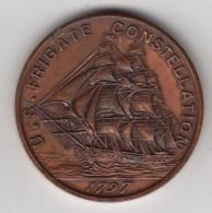 @Y@   USA   Navy  1797   Constellation   Sailing Ship  (3053)  Read The Story - Etats-Unis