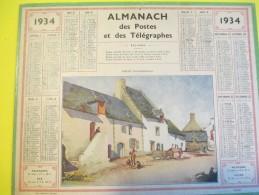 Almanach Des Postes Télégraphes /Saillé ( Loire Inférieure) / Dépt ?/Oberthur /Rennes /1934     CAL341 - Big : 1921-40