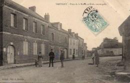 60  TARTIGNY  Place De La Mairie Et Ecole Communale - Otros Municipios