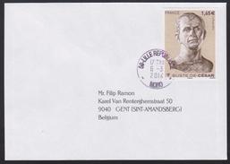 2014 - FRANCE - Cover + Y&T 4836 (Julius Caesar) + LILLE REPUBLIQUE - France