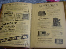 PORTE-DOCUMENT Du MÉDECIN ''LIVRE D'OR Du DOCTEUR''1902 -PUBS PHARMACIE,VÉRASCOPE/TAXIPHOTE ( Visionneuse-photographe) - Sonstige