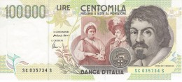 ITALY 100000 LIRE 1994 P-117b UNC SIGN. FAZIO & AMICI [ IT117b ] - [ 2] 1946-… : Républic