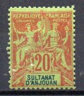 TGC/ Anjouan N° 7 Faux Fournier  Neuf  XX  MNH , Cote :  40,00 € , Album 12 - Anjouan (1892-1912)